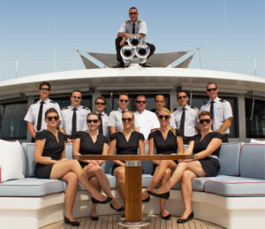 Yacht crew, deckhands and stewardesses