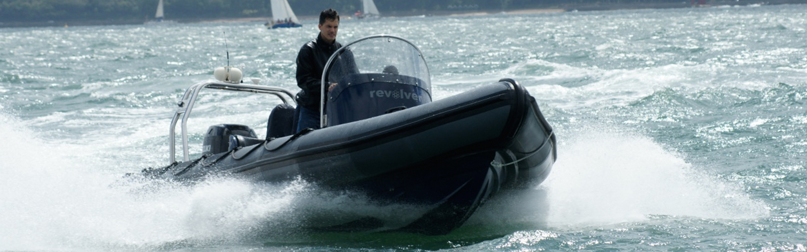 Power Boating on a rib on the solent
