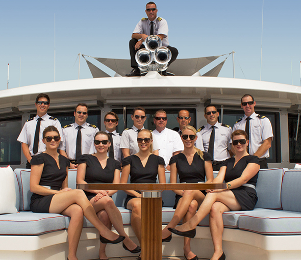 Gain qualifications to work on superyachts