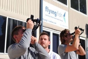 Flying Fish using a Sextant