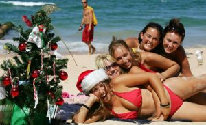Christmas on Manly beach