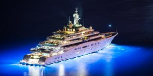 Work on a superyacht