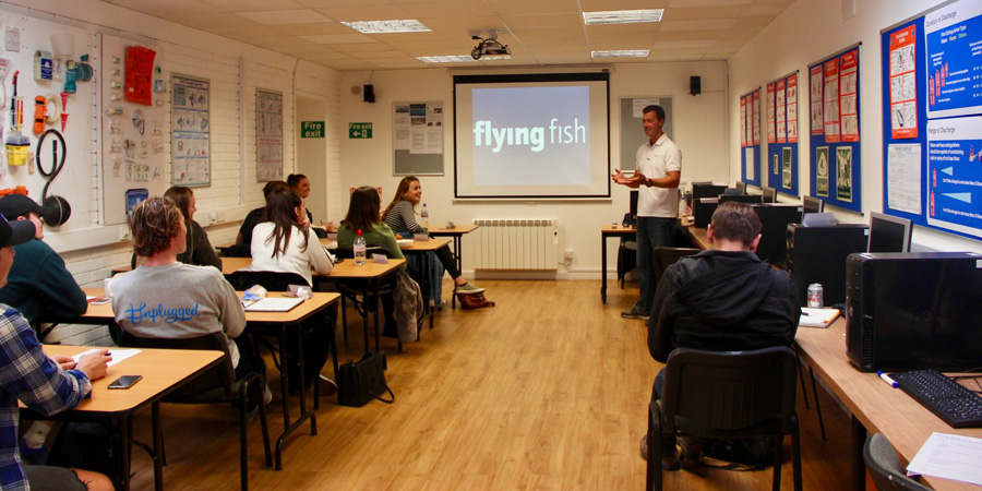 Classroom time at Flying Fish