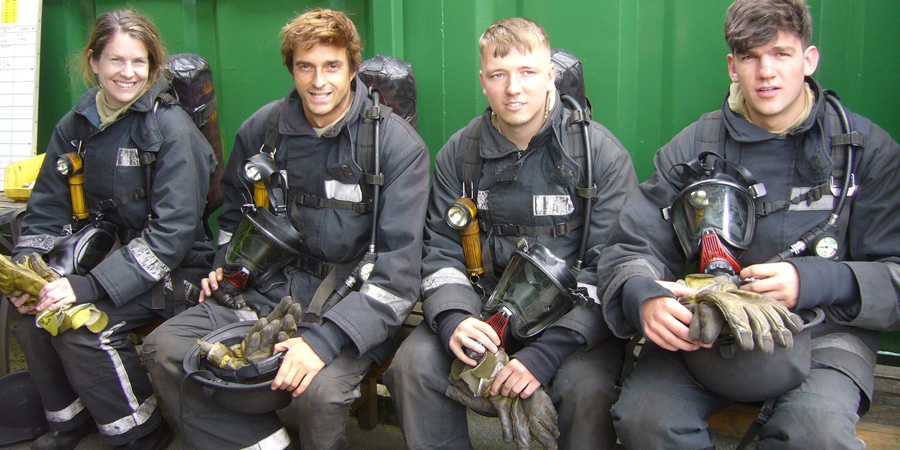 Deckhands during STCW fire fighting