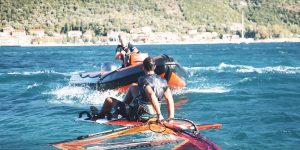 downwind windsurf rescue