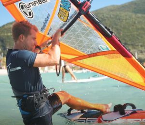 How to beach start windsurfing